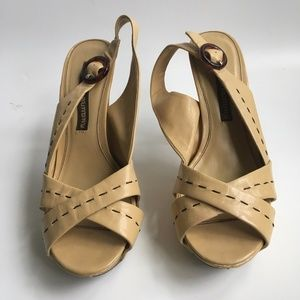 CHINESE LAUNDRY Tan Heels Sandals Size 7.5